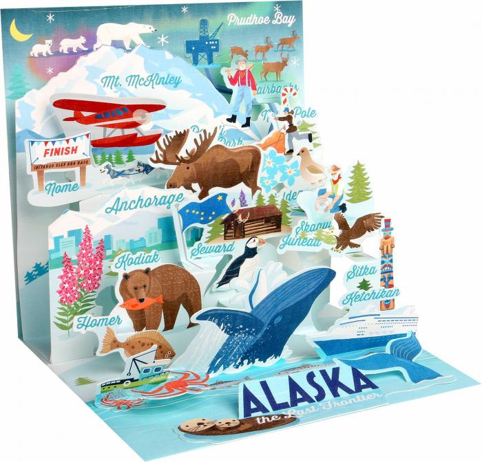 Alaska pop up card
