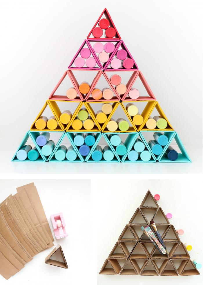 Cardboard Paint Tower