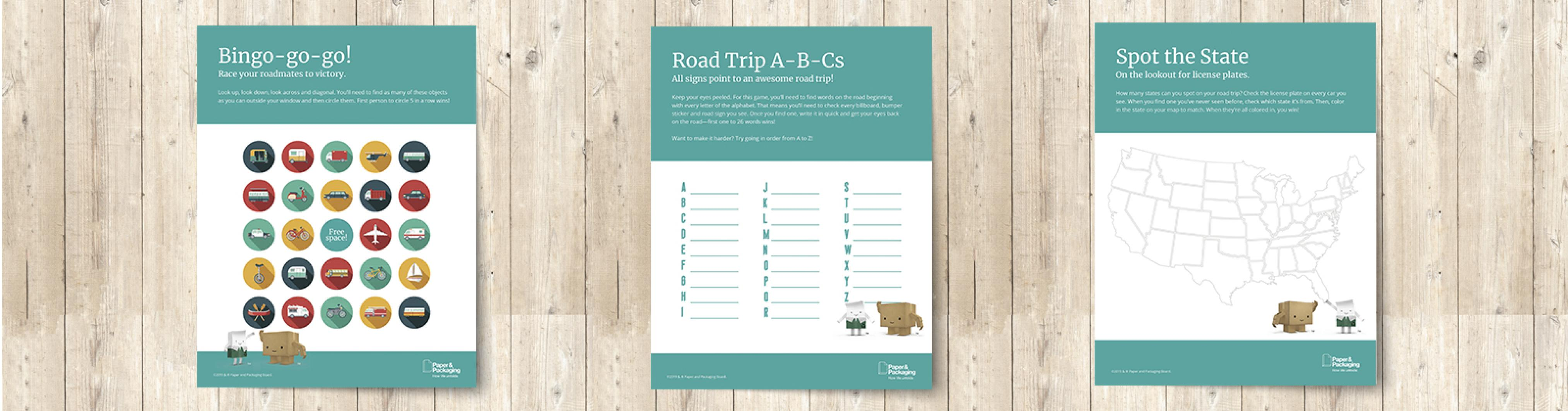 image about Printable Road identified as Printable Highway Family vacation Online games Paper Packaging